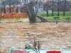 Doesburg, hoog water, olie